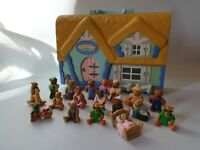Vintage Teddy In My Pocket 18 Figures And Playhouse 1995