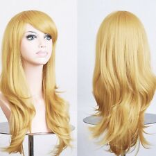 Rose Red Cosplay Wig Long Layer Synthetic Full Wigs Party Performance Costume jg