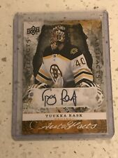 2008-09 UD Artifacts TUUKKA RASK Autograph Autofacts Boston Bruins Auto