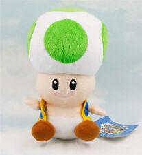 "7"" Super Mario Bros Green Toad Plush Toys Game Stuffed Animal Toy Doll Kids Gift"