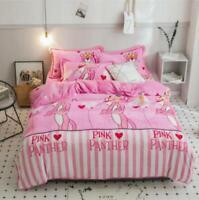 3D Pink Panther ZHUA2782 Bed Pillowcases Quilt Duvet Cover Set Queen King Zoe