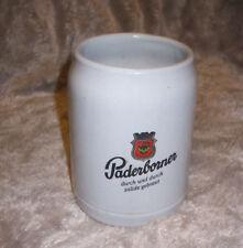 Vintage beer stein vintage stone krug Paderborner beer German beer mug 0.5 LTR