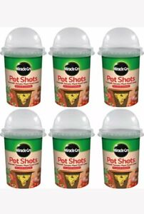 6 x Miracle-Gro Pot Shots 6 Month Tomato Plant Food Cones Feed Pots Grow DAMAGED