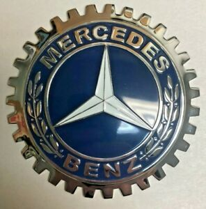 New Mercedes Benz Car/Truck Grill Grille Badge- Chromed Brass- Great Gift!
