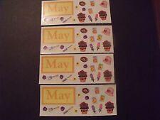 """Creative Memories ~ 2"""" x 5"""" Stickers ~ Month of May - Lot of Four"""