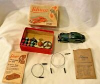 All Original SCHUCO Tele Steering Car #3000 Us Zone Germany 1950 MIB
