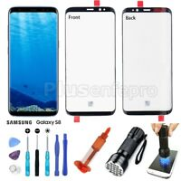 Original Front Touch Screen Glass Lens Replacement For Samsung Galaxy S8 Black