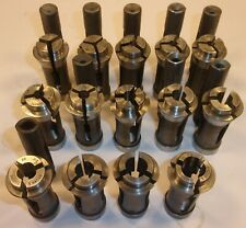 Lot of Brown & Sharpe, B&S Type #10 Round Collets & Feed Fingers, Screw Machine