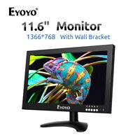"""12"""" Zoll TFT Monitor breite Anzeige 1366x768 Video Audio VGA/AV/BN für PC CCTV"""