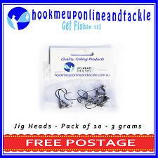 10 x 3gr #2 Hook JIG HEAD MODEL1  SQUIDGIES BERKLEY GULP Z-MAN PLASTICS
