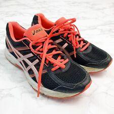 Asics Ortholite Gel Athletic Training Shoes Black Pink Womens Size 8