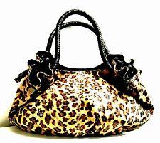Lee Sands Leopard Print Oversized Hobo Bag