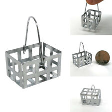Mini Metal Basket Model Dollhouse Miniature Toy Doll Home 1:6 1:12 Gift Wide