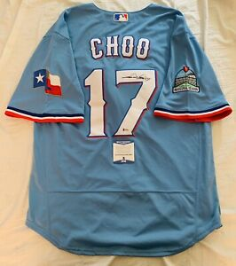 SHIN-SOO CHOO 추신수 SIGNED TEXAS RANGERS JERSEY NEW 2020 AUTO+BECKETT COA!