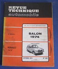Revue technique RTA 339 Renault 16 TX