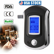 Pro Digital LCD Breath Alcohol Tester Breathalyzer Analyzer Police Detector USA