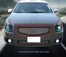 Black Stainless Steel Mesh Grille Upper Insert For Nissan Maxima 2007-2008