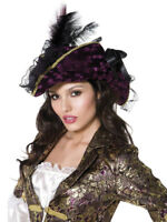 Pirate Hat Ladies Fancy Dress Accessory Deluxe Pirates Hat Adults New