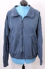 Sperry Top-Sider Blue Weathered Full Zip Pocketed Coat Jacket Men's U.S. XL