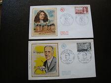 FRANCE - 2 enveloppes 1er jour 1970 (maurice de broglie/louis le vau) (cy62)