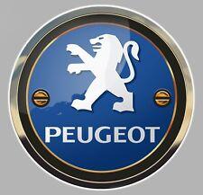 STICKER LOGO PEUGEOT LION AUTOCOLLANT REFLET TROMPE L'OEIL AUTO 15cm PB406