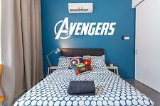 Avengers Logo Marvel Wall Art Sticker Decals Home decor Art Deco Kid Headboard