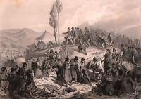 Gravure XIXe Algérie Prise de Constantine Armée d'Afrique Algeria
