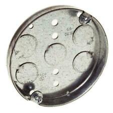 "Hubbell Raco 8293 <> Round Ceiling Pan Junction Steel <> 4"" wide x 1/2"" deep"