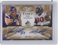 2009 UPPER DECK SIGN OF THE TIME DUAL GOLD AUTO JARED ALLEN/MARIO WILLIAMS 29/50