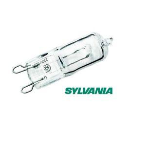 10x Sylvania branded ECO Hi-Pin 28W = 40W halogen bulb clear G9