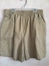 Ladies Stone Color 100% Cotton Fully Elasticated Shorts Waist Measures 28 inches