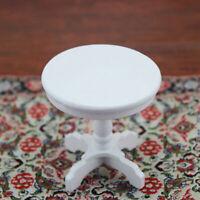 Puppenhaus Miniatur Möbel Weiß Runder Tisch Modell Skala für 1/12 NE Kaffee K7O6