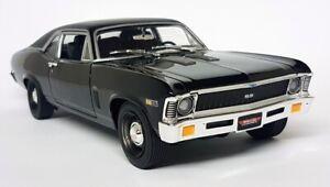 Autoworld 1/18 Scale - 1969 Yenko Chevy Nova Black MCACN Diecast Model Car