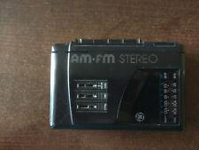 Vintage GE 3-5476B Personal Cassette Stereo AM/FM Radio Walkman Tape Player Clip