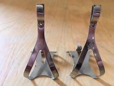 Campagnolo NJS Metal Toe Clip Fixie Fisse Gear PISTA BICICLETTA manovelle
