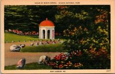 Postcard  Sieur De Monts Spring acdia National Park Bar Harbor ME