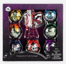 Disney Nightmare Before Christmas Ball Ornament Set Jack Skellington Tree Topper