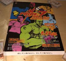 Pride Fc 7 Poster Japanese MMA Dream - UFC SEG Era Rare Flier WEC Strikeforce