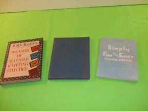 Lot of 3 Knitting Machine Books June Reed John Allen