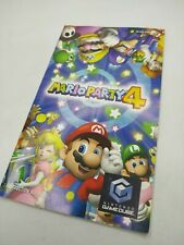 MARIO PARTY 4 - GAMECUBE - ONLY BOOKLET MANUAL NO GAME!