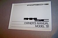 1981 Porsche 911 Sc Owners Manual Parts Service Carrera 911 new original
