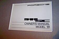 1981 Porsche 911 Sc Owners Manual Parts Service Carrera 911 new original