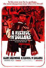 A FISTFUL OF DOLLARS Movie POSTER 27x40 Clint Eastwood Gian Marie Volonte