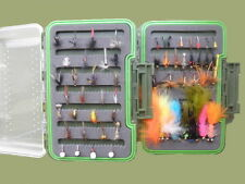 Trout Fishing Flies, Boxed Set of 60 Flies, Full variety and Sizes, Fly Fishing