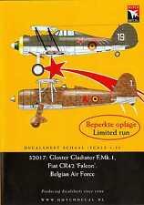 Dutch Decals 1/32 GLOSTER GLADIATOR Mk.I & FIAT CR.42 Belgian Air Force