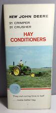 1961 New John Deere 21 Crimper 31 Crusher Hay Conditioners Farm Impl. Brochure