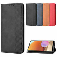 For Samsung Galaxy A32 A52 5G Case PU Leather Wallet Card Slot Stand Flip Cover
