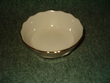 Lenox Rose Embossed Bowl Gold Trimmed Candy Dish Handcrafted