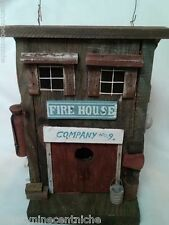 Firehouse Wood Birdhouse