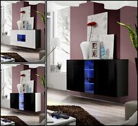 Sideboard Kommode Schrank Anrichte FLY HOCHGLANZ PVC LED BELEUCHTUNG TOP DESIGN